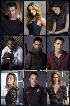 Members of the Cast of 'Arrow' on the CW