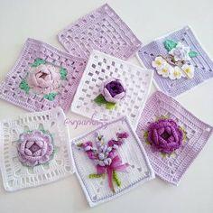 Crochet cushion cover handmade cover in cotton and natural wool – Artofit Col Crochet, Crochet Blocks, Crochet Squares, Crochet Granny, Baby Blanket Crochet, Crochet Motif, Crochet Flowers, Granny Squares, Crochet Cushion Cover