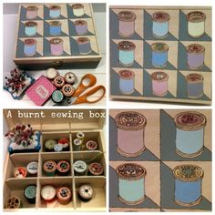 Mudlarks and Magpies: A burnt sewing box that's sew you!