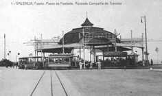 Rotonda del paseo de Poniente , postal comercial , año 1916