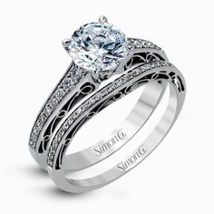 An exclusive design by Simon G., the MR1691-A Engagement Set is a stunning piece of jewelry sure to please. Check out this designer piece today!