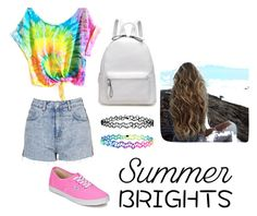 """Untitled #18"" by brankin2017 ❤ liked on Polyvore featuring Topshop, Vans, Accessorize and summerbrights"