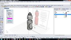 Get started modeling with Rhinoceros 5 for Windows. Kyle Houchens (kyle@mcneel.com) will show you how to use a fictional design brief to model a water bottle in Rhino. http://www.rhino3d.com/ Here is a link to the water bottle image that you can use to trace. http://s3.amazonaws.com/mcneel/misc/Kyle_work/Plastic_Water_Bottle_750ml.jpg