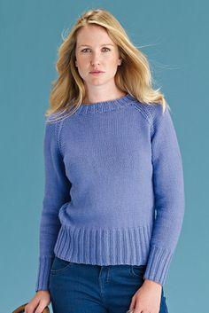 bb321f6d3 HAZEL - Simple Shapes Handknit   Softknit Cotton Knit Cardigan Pattern