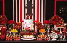 Festa de criança/ mesa/ decoração de festa/ bombeiro/ festa do bombeiro