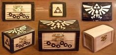 Zelda Woodburned Box by KiRAWRa