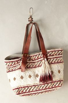 Anthropologie TUFTED GEMS TOTE #anthrofave