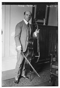 Pau Casals(1876 – 1973) was a Catalan cellist and conductor. He is generally regarded as the pre-eminent cellist of the first half of the 20th century, and one of the greatest cellists of all time. He made many recordings throughout his career, of solo, chamber, and orchestral music, also as conductor, but he is perhaps best remembered for the recordings of the Bach Cello Suites he made from 1936 to 1939.
