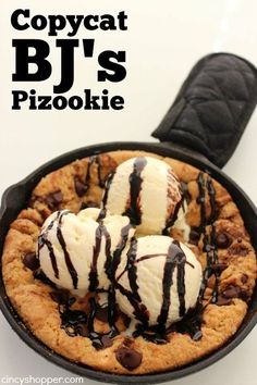 If you are a fan of the famous Pizookie while dining at BJ's, you are going to love this CopyCat BJ's Pizookie Recipe. With just a few ingredients and very