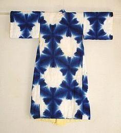 Japanese Vintage Textile Sekka Shibori Baby's Kimono