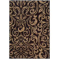 Emerson 2033C Black Contemporary Rug by Oriental Weavers