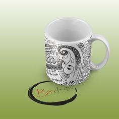 Kriszti bögréje #doodle #zen  #zentangle #mintarajzolás #rajzmeditzáció #mug #bögre #zenfirka Zentangle, Mugs, Tableware, Dinnerware, Zentangle Patterns, Tumblers, Tablewares, Mug, Dishes