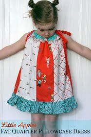 The Cottage Home: Pattern Remix: Little Apples Fat Quarter Pillowcase Dress