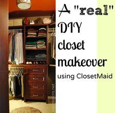 Master Closet Makeover Using ClosetMaid Impressions Via Sasinteriors.net  Master Bedroom Closet, Bedroom Closets