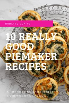 10 really good pie maker lunchbox recipes | Mumlyfe Mini Pie Recipes, Waffle Maker Recipes, Muffin Tin Recipes, Lunch Box Recipes, Cooking Recipes, Savoury Baking, Savoury Pies, Good Pie, Savory Snacks