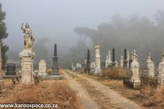 There are many stories – some sad, some wondrous, others downright weird – to be found at the Cradock graveyard in the Karoo Heartland. Old Cemeteries, Graveyards, Sa Tourism, 17th Century Art, Angel Statues, Buddhist Art, Luxor Egypt, Future City, Countries Of The World