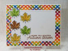 Savvy Handmade Cards: Autumn Season Card - TMS #573 First Day Of Autumn, Autumn Cards, Tuesday Morning, December 12, Penny Black, Graphic 45, 1st Christmas, Distress Ink, Digital Stamps