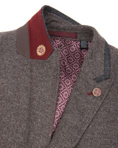 Mix wool blazer - Natural   Blazers   Ted Baker