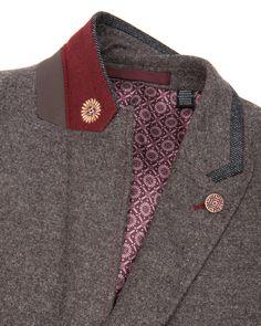 Mix wool blazer - Natural | Blazers | Ted Baker