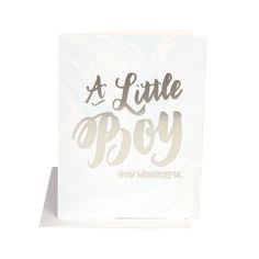 New Baby gift card for a little boy