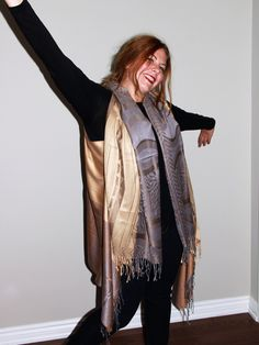Golden Brown and Grey Cover-up by LLCozyCorner on Etsy Golden Brown, Brown And Grey, Cover Gray, Cover Up, Cozy Corner, Kimono Top, Stuff To Buy, Etsy, Vintage