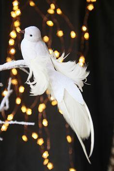 Large White Bird Of Prey Decoration - Christmas Decorations - Christmas