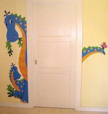 Friendly Dragon Door wall Sticker, Suitable for boys & Girls Baby or Nursery Room, Available at WolfStock UK