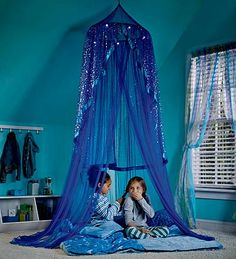 Celestial Starry Night Hideaway - HearthSong -- and I would be lying if I said I didn't one of these gorgeous canopies for my own bed.