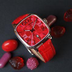 Unique luxury watch brand with remarkable avant-garde design and handmade quality.  Art on the Wrist. #alexandershorokhoff #avantgarde #artonthewrist #new #kandy #kandinsky #redwatch #roteuhr