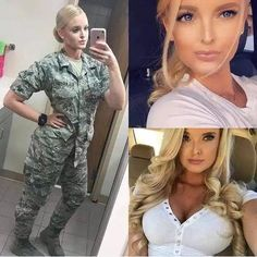 Here we share a new collection of ARMY WOMEN in and out of uniform. These are the 41 professional military women in & out of uniform looking so hot. Mädchen In Uniform, Female Army Soldier, Female Marines, Military Girl, Military Women, Girls Uniforms, Professional Women, Looking For Women, Athletic Women