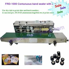 310.00$  Buy here - http://aliuro.worldwells.pw/go.php?t=32783171564 - continuous solid band sealing machine, aluminum foil pouch sealer 310.00$