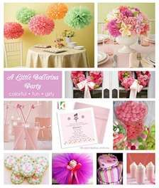 ... on all the detail s for little ballerina birthday party. Love the colors used!