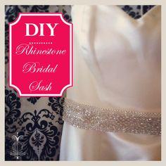 how to make a rhinestone bridal sash