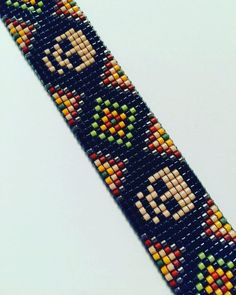 DIY Projects bead loom patterns seed bead loom patterns boho bead l Loom Bracelet Patterns, Beaded Earrings Patterns, Beading Patterns Free, Seed Bead Patterns, Bead Loom Bracelets, Weaving Patterns, Art Patterns, Knitting Patterns, Bracelet Charms