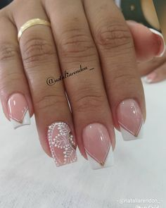 French Nails, French Manicures, Bridal Nails, Manicure And Pedicure, Nail Designs, Nail Art, French Style, Simple, Diana