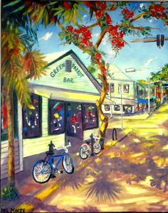 ORIGINAL FINE ART GICLEE ON CANVAS KEY WEST STYLE by DEL PONTE