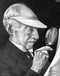 M.C. Escher's father, G.A., was a civil engineer who passed on a love of science and mathematics to his son. | Father's Day: Portrait of the Artist's Father