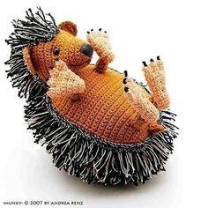 hedgehog Munky PDF crochet pattern .#amigurumi #crochet