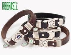 Leren heren armbanden van BBBRASIL shop je bij www.heren-armband.nl  http://www.heren-armband.nl/staal-leer-heren-armbanden?o=20