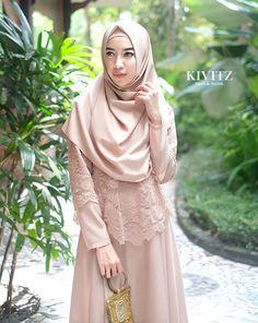 Ideas For Bridal Cape Hijab Abaya Fashion, Modest Fashion, Girl Fashion, Fashion Outfits, Simple Bridesmaid Dresses, Modest Dresses, Beautiful Hijab, Beautiful Dresses, Kebaya Hijab