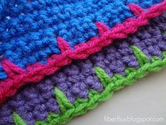 How To Crochet Blanket Stitch Edging
