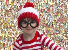 """10 easy and cheap #Halloween costumes for kids, including this """"Where's Waldo"""" boy's costume. Save when you shop for Halloween items here: http://www.shopathome.com/halloween-deals?refer=1500128&src=SMPIN"""