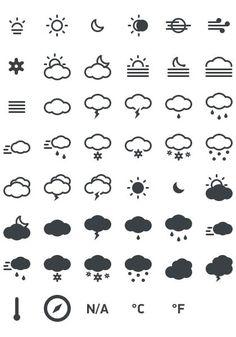 Meteocons - a free set of weather icons in PSD, CHS, EPS, SVG, Desktop font and Web font. Web Design, Tool Design, Flat Design, Icons Web, Flat Icons, Free Icon Fonts, Weather Icons, Photoshop, Design Graphique