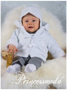 Nr.11 Frecher Anton für die Wintertaufe! - Princessmoda - Alles für Taufe Kommunion und festliche Anlässe