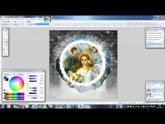 Создаем ледяной вырез с помощью эффекта Кристаллизация в Paint.net - YouTube