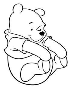 Winnie The Pooh Kidding Happy Coloring Page