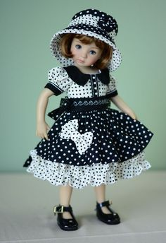 "SOLD ""Let's Play Chess"" Dress, Outfit, Clothes for 13"" Dianna Effner Little Darling #LuminariaDesigns"