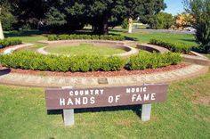 Picture of Tamworth, New South Wales - Country music capital of Australia.  While Hollywood has its display of famous 'stars' so does Tamworth with this charming garden.
