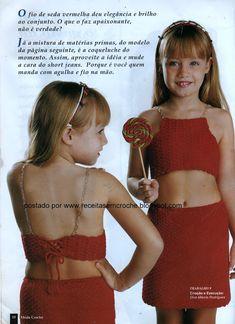Receita de Crochê Infantil: Conjunto de saia e top em crochê para menina