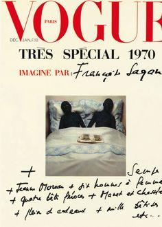 Le numéro de décembre 1969/janvier 1970 de Vogue Paris imaginé par Françoise Sagan